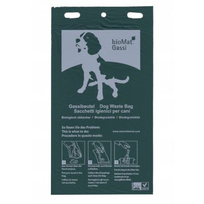 Ein Block Handschuhebeutel zum Aufsammeln von Hundekot in grün
