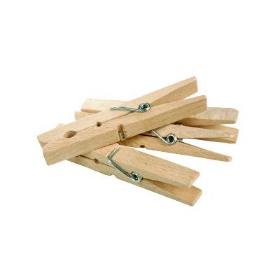 Ein Stapel Holzwäscheklammern