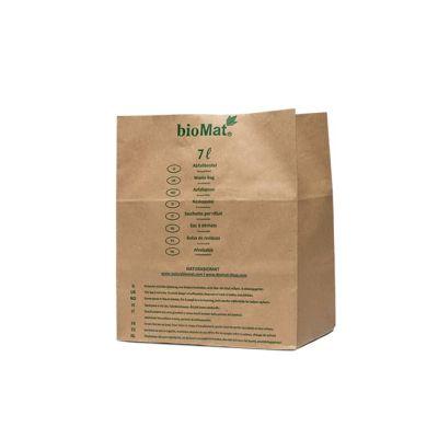 7 Liter Bio-Mülltüte mit doppelt verklebtem Boden aus Kraftpapier