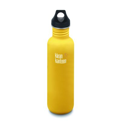 The Klean Kanteen Classic in yellow (lemon curry)