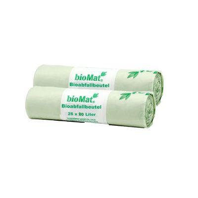 15 Lt. BIOMAT® kompostierbare Bioabfallbeutel (52 Stk.)