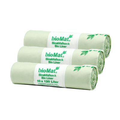 120/140 Lt. BIOMAT® kompostierbare Abfallsäcke (30 Stk.)