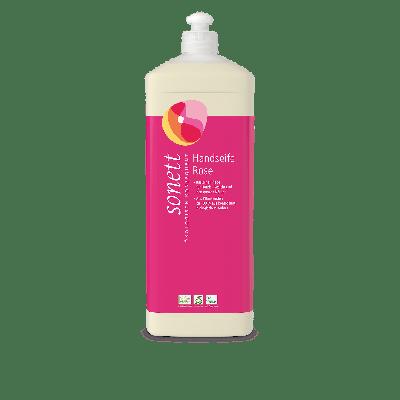 Handseife flüssig Rose Nachfüllflasche 1 Liter